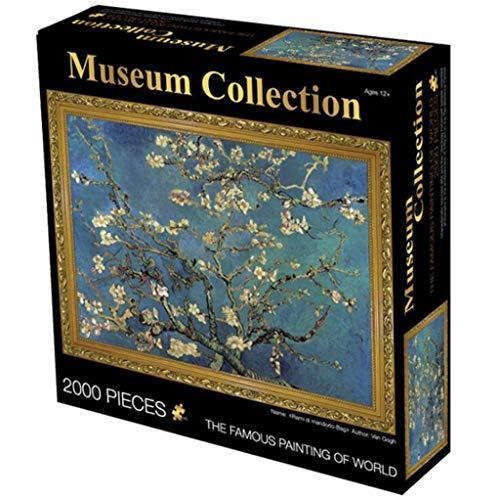 Gioco di Puzzle Classico Mandorli di Vincent Van Gogh 2000 Pezzo di carta Jigsaw Puzzle for il petrolio l'arte i bambini di età Pittura Ridotto del regalo del giocattolo di pressione Robusto e facile