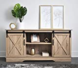 Rainbow Sophia Forest Series Wooden TV Stand with Sliding Barn Door for TVs up to 65' (Natural)