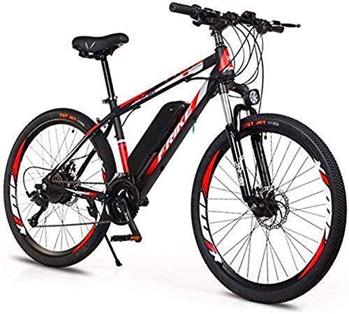 RDJM Bici electrica, 26 '' Electric Bicicleta de montaña, Variable Adultos Velocidad Off-Road Poder de la Bicicleta (36V8A / 10A) for Adultos Ciudad De trayecto Ciclo al Aire Libre