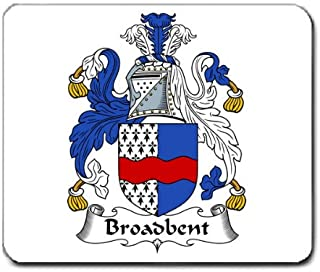 Broadbent Family Crest Coat of Arms Mouse Pad