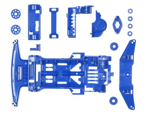 Tamiya Super 1 Chassis (Blue) (Mini 4WD)