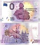 0 Euro Schein  Gottes Gnade gibt es umsonst  mit Martin Luther zum Kirchentag 2017 Reformationstag Null Euro Souvenir mit verschiedenen Sehenswürdigkeiten