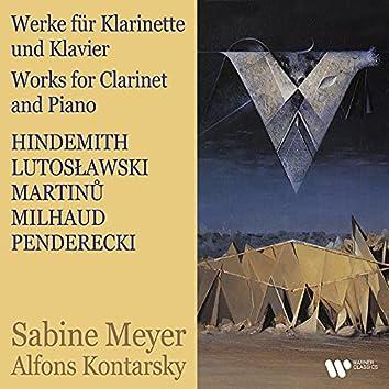 Hindemith, Lutosławski, Martinů, Milhaud & Penderecki: Works for Clarinet and Piano