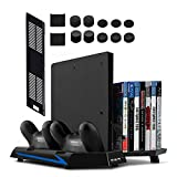 Younik Soporte Vertical para PS4 / PS4 Slim con ventiladores,...