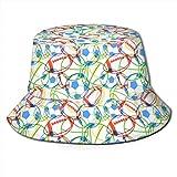 Unisex Animales exóticos del zoológico Sombrero de Cubo de Viaje Gorra de Pescador de Verano Sombrero para el Sol-Pelotas Deportivas Coloridas