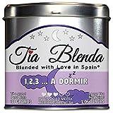 TIA BLENDA - 1,2,3... A DORMIR (30 g) - Relajante infusión de alta calidad con hierbaluisa y tila. Selección de hierbas naturales sueltas. 50 - 60 tazas. Presentación premium en lata. Loose Tea Caddy.