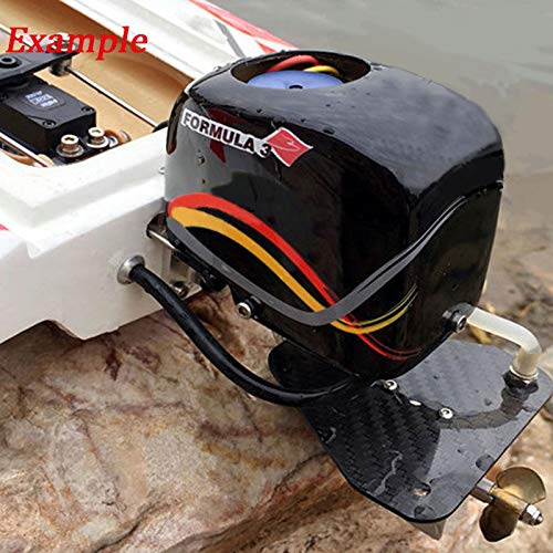 RC Boat Tail Power Head Outboard Brushless Motor Propeller Steering Function