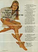 Sears Cling-alon hosiery stays all the way up all by itself ad 1971