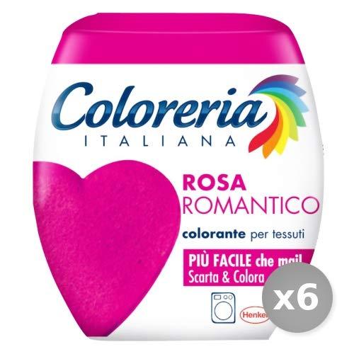Coloreria Italiana Set 6 1 Pronto all'Uso Rosa Romantico per Lavatrice