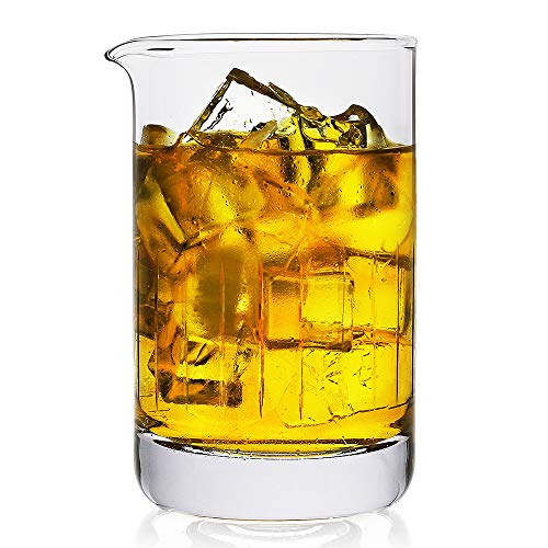 Crystal Mixing Glass,Professional Extra Large 20 OZ Crystal Cocktail Mixing Glass,Lead-Free Stir Glass,Premium Seamless Design - Great Gift Idea-Professional Quality (20 OZ)