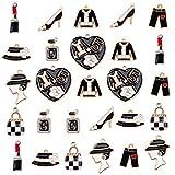 vamei 27 pezzi gioielli che fanno ciondoli assortiti pendenti fai-da-te bracciale orecchini nera misti assortiti charms accessori per ragazza