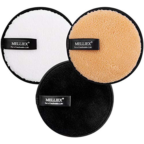 3pcs Discos Desmaquillantes de Reutilizables Toallitas Desmaquillantes Algodón Ecologicos para Limpieza Facial Removedor