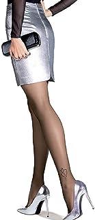 Gatta Damen Feinstrumpfhose mit Muster 20den 935-30 - elegante Damen Strumpfhose mit Tiermotiv Katzen-Tattoo - Designed & Made in EU