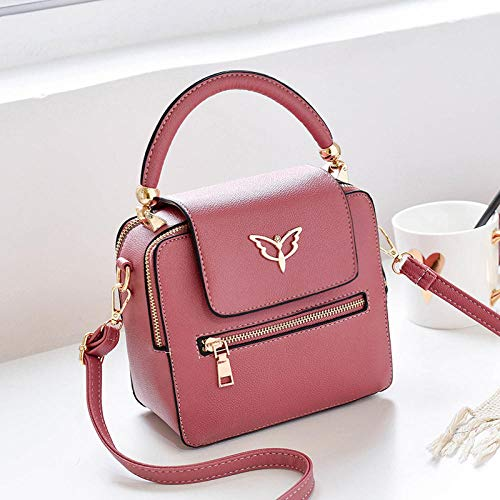 SPFBAG Handbags for Women Womens Shoulder Bags PU Leather Handbags Top-Handle Purse for Ladies-red