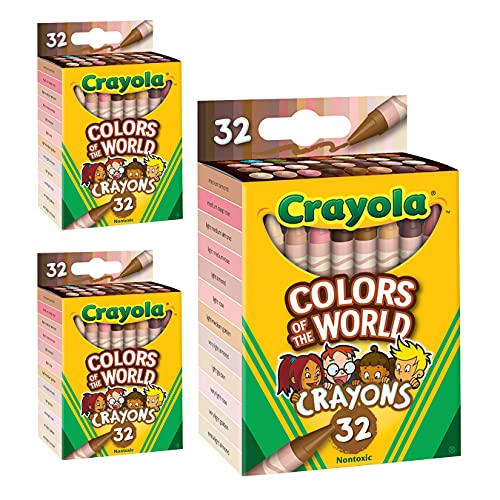 Crayola Multicultural Crayons - 32 Count (3 Pack)