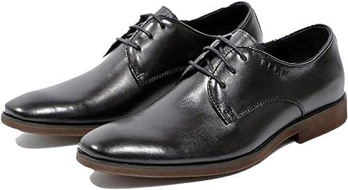 zapatos De Vestir De Negocios Para Hombre Derby Seasons Gentleman De Color negro marrón Uniforme Hecho A Mano De época Bajo
