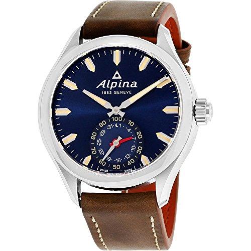 ALPINA Mixte Adulte Analogique Quartz Montre avec Bracelet en Cuir AL-285NS5AQ6
