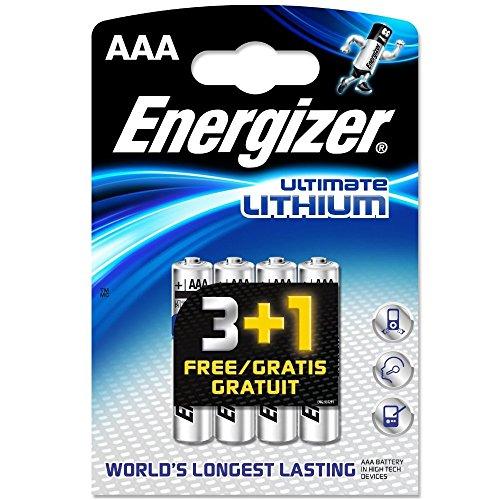Energizer L91-2 confezioni da 3+1 batterie al litio AAA (totale di 8 pezzi)