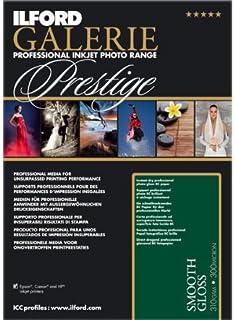 Prestige ILFORD GALERIE Smooth Papel fotográfico brillante - A3 + - 310 G/m2 - 25 hojas de papel de + 2 años de garantía