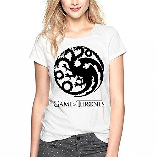 Playera de dragón de Juego de Tronos, para Mujer, Color Negro