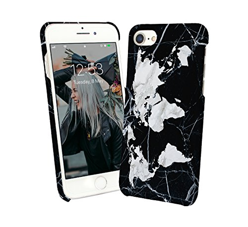 Marble Map Globe Trotter Discoveries Earth Oceans Europe North South America Africa Asia Antartic Arctic Travel iPhone 6 7 8 X Galaxy Note 8 Huawei Custodia Protettiva Hard Plastic Cover Case