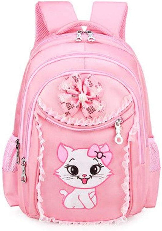 KUQIQI Grundschule Schultasche, Mdchen 1-6 Klasse 6-12 Jahre altes Mdchen Prinzessin Light Weight Loss Girl Rucksack, Umhngetasche mit Gre Praktische Schultasche