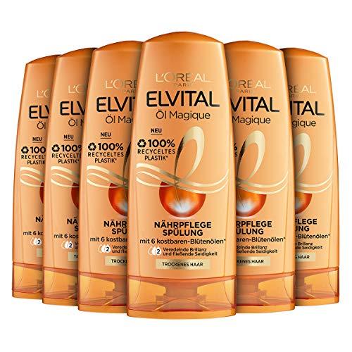 L\'Oréal Paris Elvital Nährende Spülung Öl Magique, 6er Pack (6 x 250 ml)