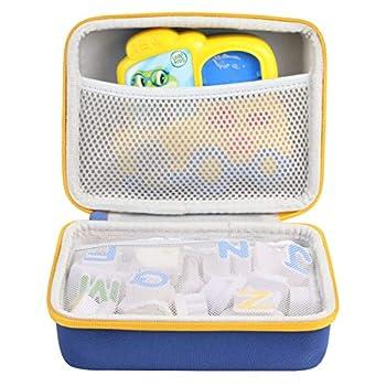 co2CREA Hard Travel Case Replacement for Leapfrog Fridge Phonics Magnetic Letter Set  Blue Case + Yellow Zipper
