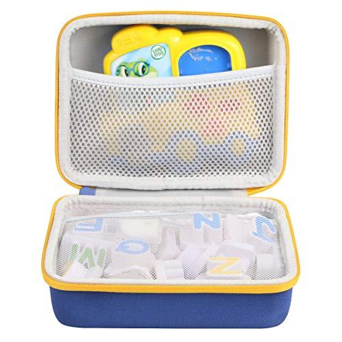 co2CREA Hard Travel Case Replacement for Leapfrog Fridge Phonics Magnetic Letter Set (Blue Case + Yellow Zipper)