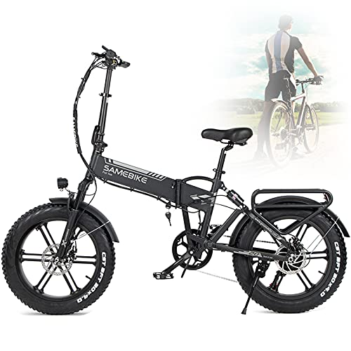 "HPDOM 500W Bicicletas eléctricas, Plegable Bicicletas eléctricas de Off-Road Fat 20 ""48V..."