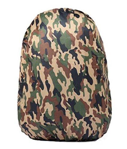 Black Temptation Camouflage Housse de Pluie Sac à Dos Trolley Case Housse de Protection étanche, B3