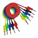 Myya 5 Unids/Set 1M 4mm Apilable Banana a Banana Cable De Prueba De Enchufe para Multímetro Automotriz 5 Colores