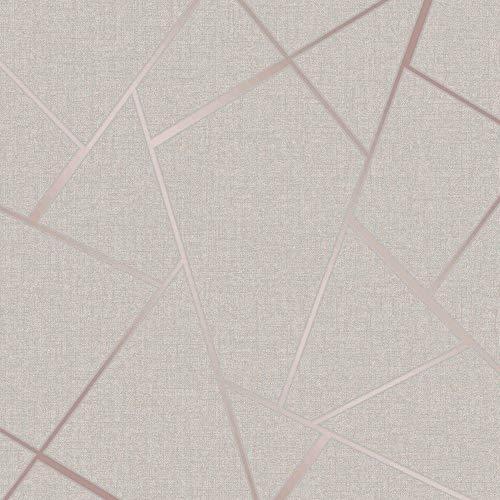 Fine Decor Wallcoverings FD42282 Quartz Fractal Papel pintado, oro rosa