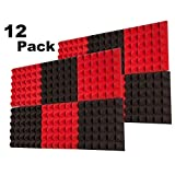12 Pack Acoustic Foam Panels Soundproofing Studio Foam Wedge Tiles Fireproof 2' X 12' X 12'