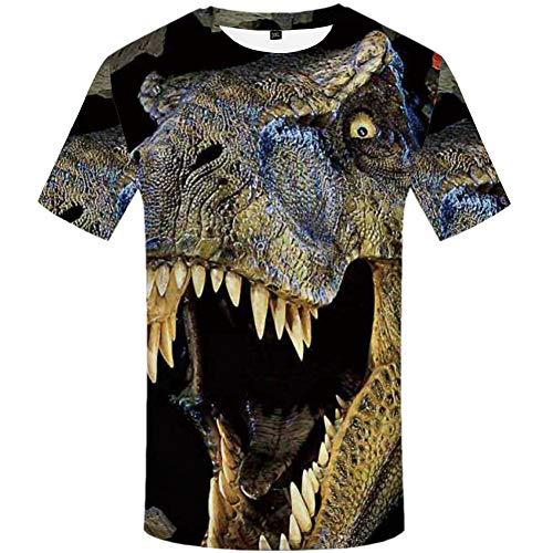 YAMAO Rundhals T- Shirt Homme,Sport, Tee-Shirt col Rond imprimé 3D Animal Print vêtements pour Hommes