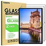GOZOPO Protector de pantalla para tablet YESTEL T5 de 10.1 pulgadas, película de vidrio templado premium, borde 2.5D [resistente a los arañazos] – paquete de 2