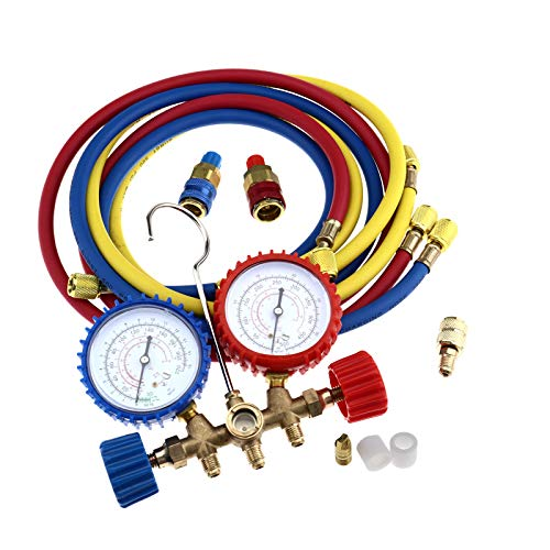HVAC Refrigeration Air Conditioning AC Diagnostic Kit Manifold Gauge Set R22 R12 R134A R502