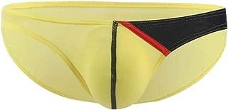 Men's Briefs Low Rise Ice Silk Bikinis Seamless Colorblock Soft Underwear