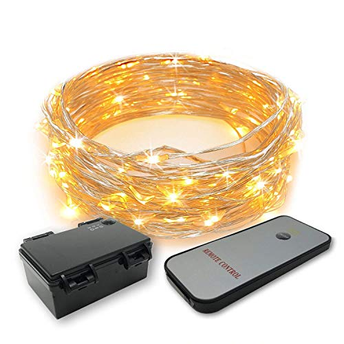 Gresonic 30/60 LED Micro Lichtsnoer draad met timer Mini lamp batterijvoeding Deco voor tuin Kerstmis Party Bruiloft