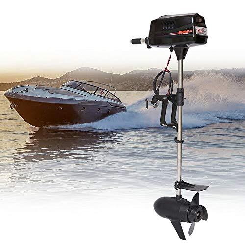 YUNRUX Außenbordmotor Elektromotor 3 PS Außenborder Pinnensteuerung Bürstenloser Motor Elektro -Bootsmotor Bootsmotor für Schlauchboote, Fischerboote 24 V