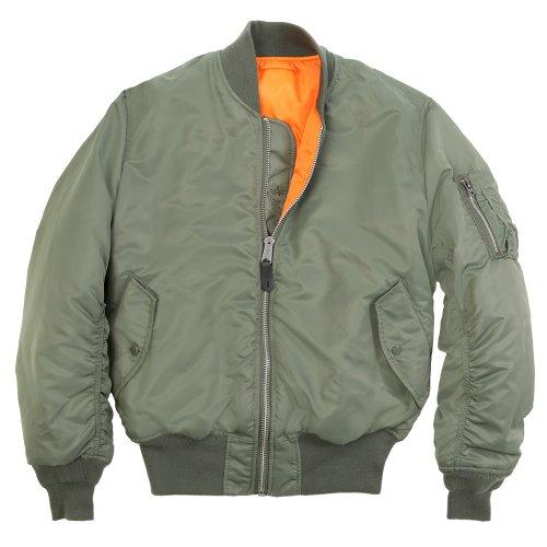 Alpha Industries Men's Ma-1 Flight Jacket,Sage Green,Large
