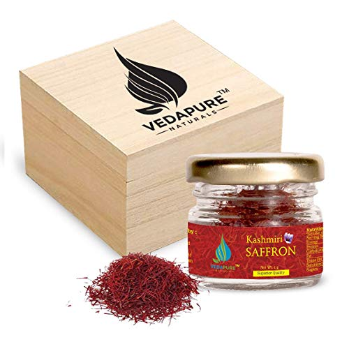 Veda Pure Natural Premium A++ Grade Kashmiri Saffron/Kesar Threads, 1 g