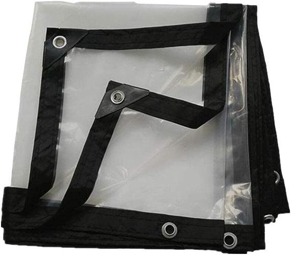 HCYTPL Transparent Tarpaulin Heavy Duty imperméable à l'eau épaissitant Isolation extérieure Polyéthylène 18 Tailles Personnalisables,5X8m