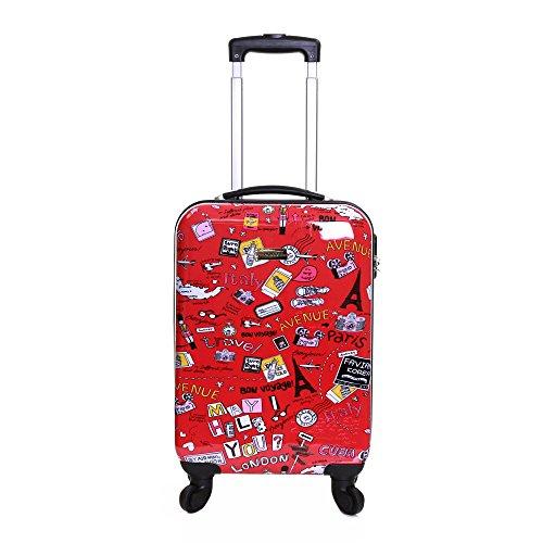 Karabar Dewberry 55 cm equipaje rígida, Rojo