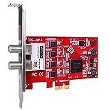 TBS -6814 ISDBT Quad-Tuner, PCIe HD TV, sintonizador interno.