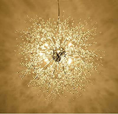 "Fandian 23.5"" Chandeliers Firework LED Light Stainless Steel Crystal Pendant Lighting Ceiling Light Fixtures Chandeliers Lighting"