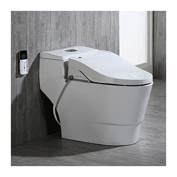 WOODBRIDGE Toilet & Bidet Luxury Elongated One Piece Advanced Smart Seat with Temperature Controlled Wash Functions and Air Dryer, Toilet with Bidet, Bidet & Toilet T-0737 1 <p>✅Include WOODBRIDGE one-piece toilet and luxury bidet seat. Bidet seat fits the toilet perfectly ✅Modern design: sleek, low profile skirted elongated one-piece toilet, comfort height, water sense, high-efficiency ✅Hygiene: posterior wash, feminine wash, pulsating wash, adjustable water pressure, hygienic filtered water ✅Comfort: water heater, warm air dryer, unlimited warm water, heated seat (5 adjustable temperature), with oscillating and gentle massage pulse functions ✅Convenience: safety on/off sensor, self-cleaning nozzles with stainless steel material. Quick release seat for easy cleaning. Energy save mode design ✅ 2-year limited manufacture</p>