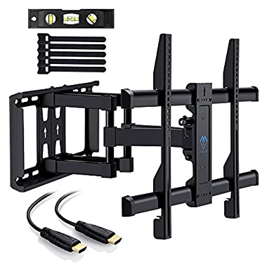 TV Wall Mount Bracket for 37 -70  TVs - Full Motion with Articulating Arm & Swivel - Holds up to 132 lbs and Extends 16  - Fits Plasma Flat Screen TV Monitor by PERLESMITH