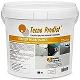 IMPER HUMEDADES de Tecno Prodist - (22 Kg) Mortero para revestimiento de Paredes. Impermeabilizante. Tratamiento humedades muros, sótanos, etc. Impermeable al agua, fácil de usar. Color Blanco.