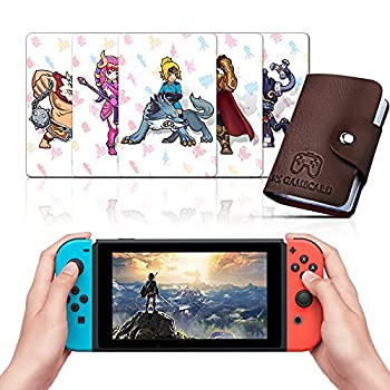 [NEWEST VERSION] TPLGO 24 pcs NFC Cards with Holer for TLOZ Breath of the Wild Botw Switch/Switch Lite/Wii U with New Card for Link s Awakening